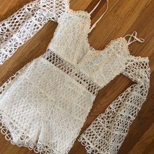 Super cute crochet jumpsuit/romper